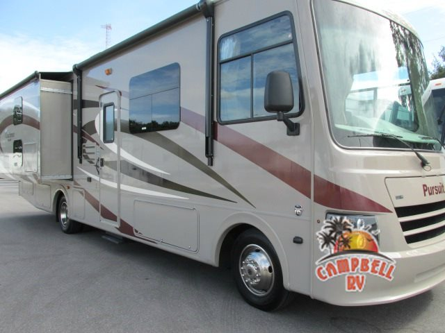 The Coachmen Pursuit is a great example of a Class A motorhome.