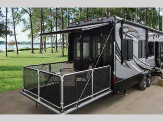 Heartland Cyclone Fifth Wheel Toy Hauler Rear Patio