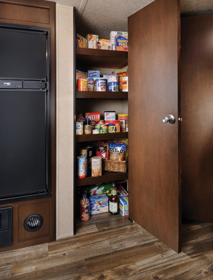Grey Wolf Travel Trailer Pantry