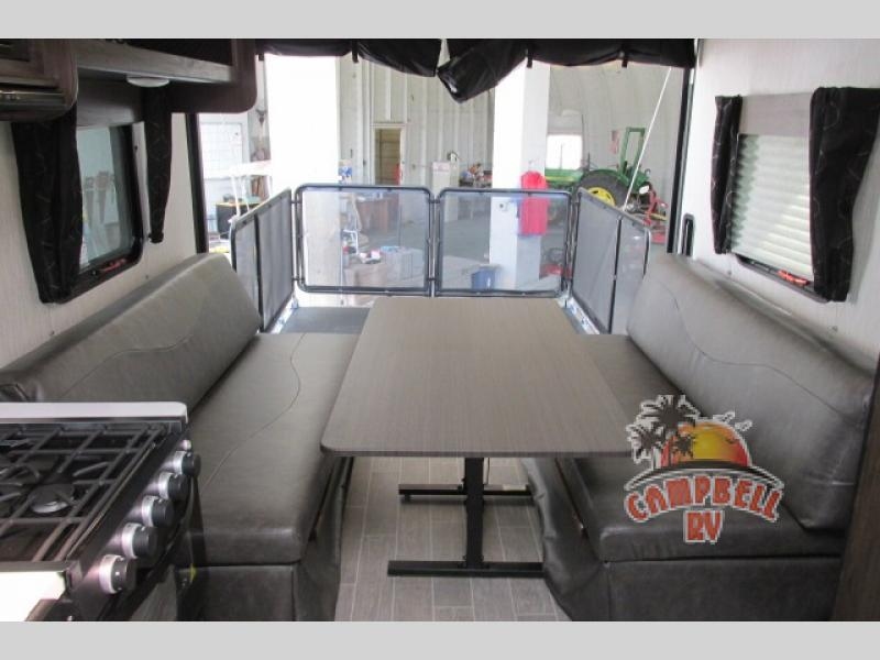 Toy hauler garage patio