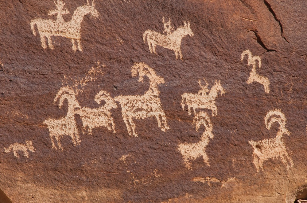 Rock paintings in Arches National Park