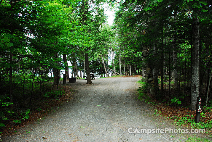 Lily Bay State Park Campground Site